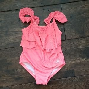 Girls Swimsuit Coral Body Glove Size 5